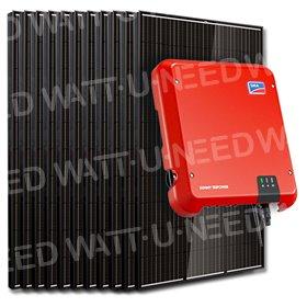 Kit 12 panneaux autoconsommation / réinjection 3000W SMA sans stockage