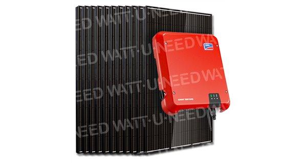 Kit 16 panneaux autoconsommation / réinjection 5000W SMA sans stockage