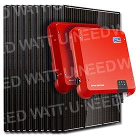 Kit 20 panneaux autoconsommation / réinjection 6000W SMA mono sans stockage