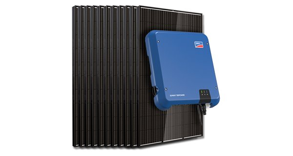 Kit 30 panels self-consumption/Reinjection Tri 10kW SMA without storage