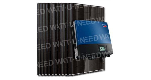 Kit 50 panneaux autoconsommation / réinjection tri 15kW SMA sans stockage