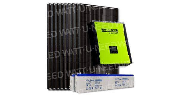 Kit 12 panneaux autoconsommation / réinjection 3000W avec stockage