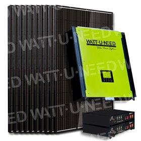 Kit 20 panneaux autoconsommation / réinjection 5000W avec stockage lithium