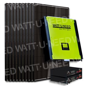Kit 20 self-consumption panels / reinjection 5000W with lithium storage
