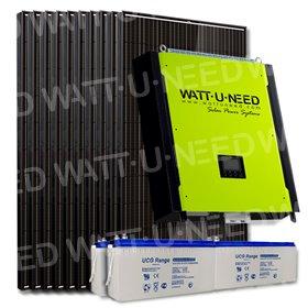 Kit 30 panneaux autoconsommation/réinjection 10kVA Tri avec stockage