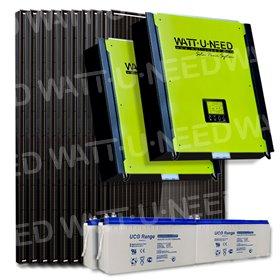 Kit 30 panneaux autoconsommation/réinjection 10kVA mono avec stockage