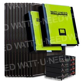 Kit 30 panneaux autoconsommation/réinjection 10kVA mono avec stockage lithium