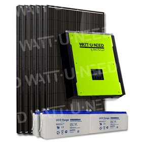Kit 6 panels consumption / reinjection 3000W with storage