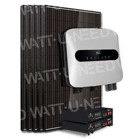 Kit 6 panneaux autoconsommation / réinjection 5000W avec stockage lithium