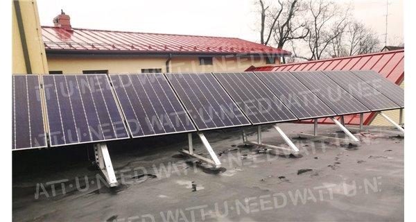 Free-land mounting kit for solar panel