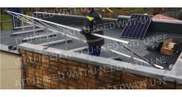 Free-land mounting kit for solar panel