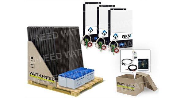 Kit autoconsommation 18 panneaux 15kVA Monophasé avec stockage