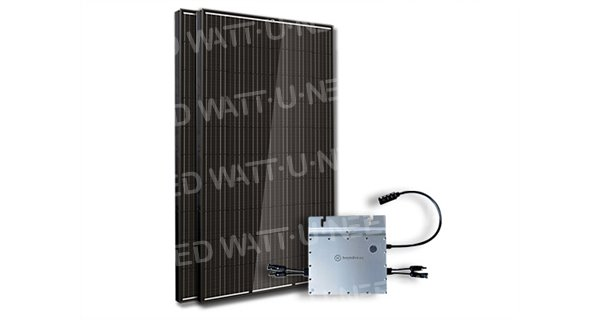 Kit 2 panels enphase self-consumption-reinjection without storage