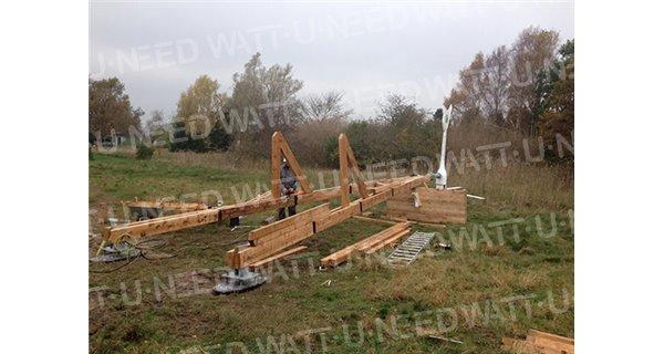 Carport solar wooden structure InnoVentum