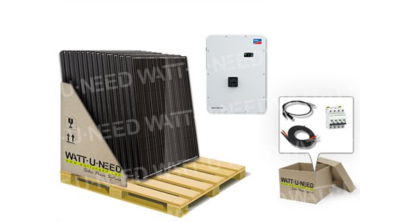 Kit 6 panels consumption / reinjection 5000W with lithium storage