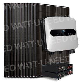Kit 25 panneaux autoconsommation / réinjection 10000W avec stockage lithium