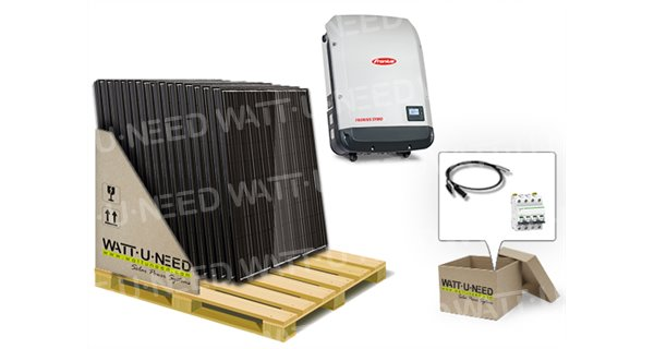 30-panel self-consumption/reinjection 10000W with lithium storage