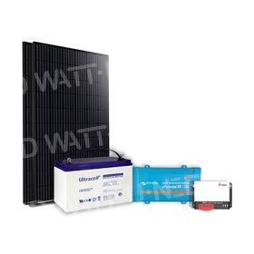 Kit solaire 660Wc mono - 100Ah24V - 800VA