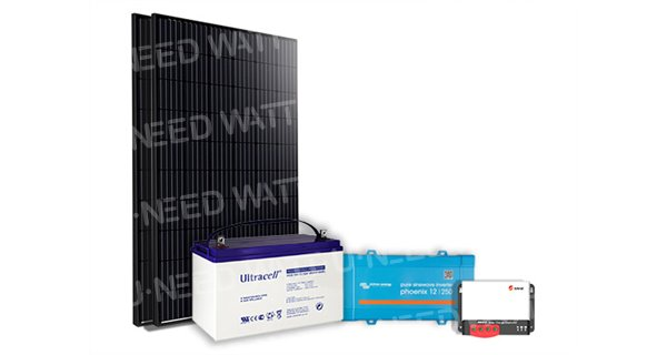 Kit solaire 600Wc mono - 100Ah24V - 800VA