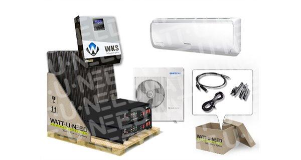 Autonomous kit 6 3kVA panels and lithium air conditioning