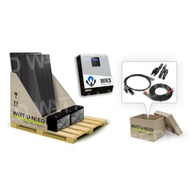 2-panel 1kVA self-consumption kit with lithium