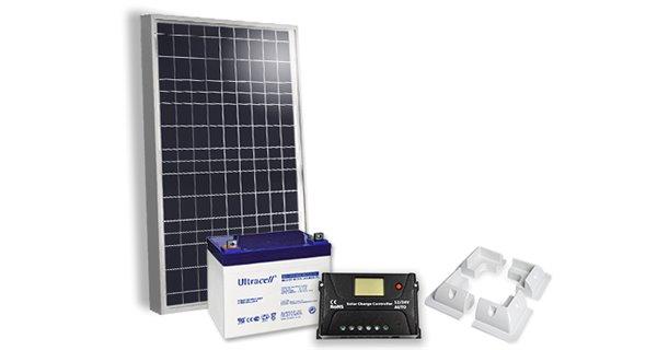 50Wc Solar Kit - 35Ah / 55Ah - 12V