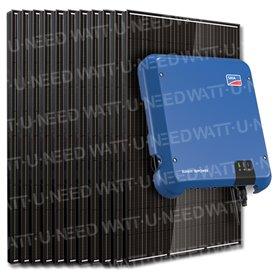 Kit 40 panneaux autoconsommation / réinjection tri 10kW SMA sans stockage