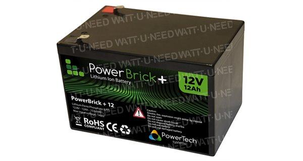 PowerBrick lithium battery + 12V 12Ah