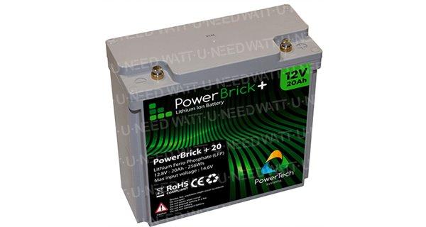 PowerBrick lithium battery + 12V 20Ah