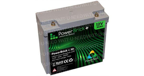PowerBrick Lithium Battery 12V 30Ah