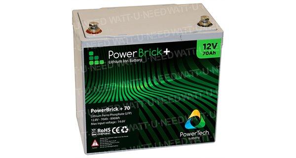 PowerBrick lithium battery + 12V 70Ah