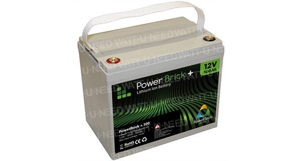 PowerBrick lithium battery + 12V 100Ah