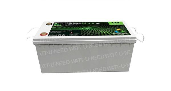 PowerBrick lithium battery + 12V 250Ah