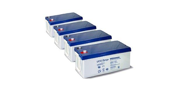 Parc de 10kWh batterie GEL 200AH configurable