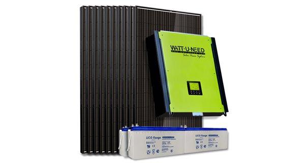 Kit 20 panneaux autoconsommation / réinjection 5000W avec stockage