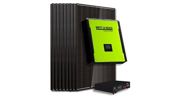 Kit 10 self-consumption panels / 3000W lithium reinjection
