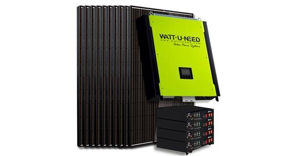 Kit 30 panels self-consumption/Reinjection 10kVA Tri with lithium storage