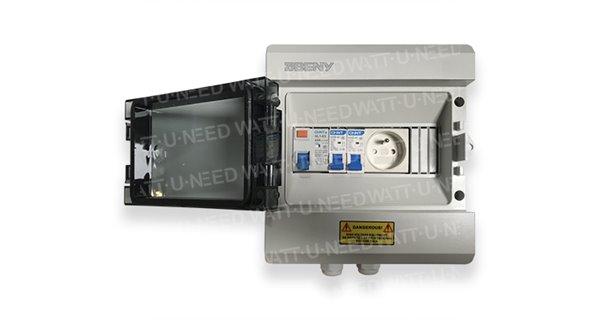 Coffret AC ZJBENY avec prise 230V