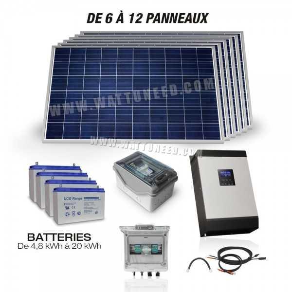 kit hybride 5000w kit solaire pour site isol. Black Bedroom Furniture Sets. Home Design Ideas