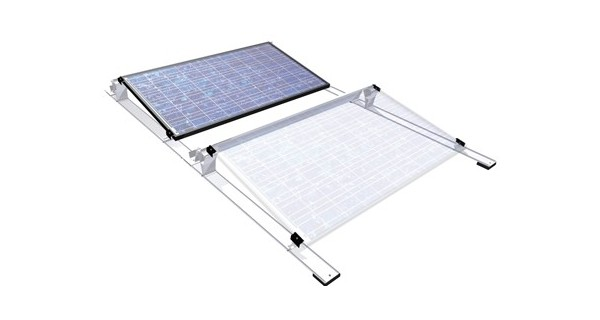 Flat roof racking system for photovoltaic panels