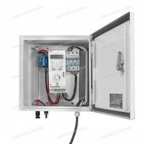 Transformation and security box for solar pumping 3x220V