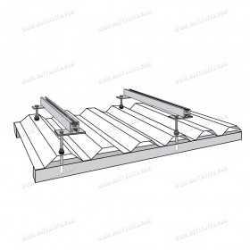 Kit de fixation sur toit en tôle