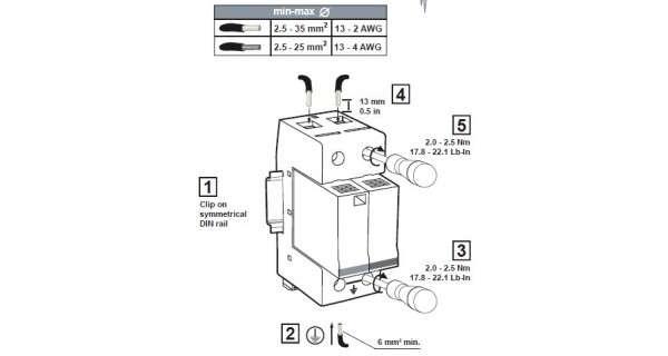 Schéma montage parafoudre BT - unipolaire