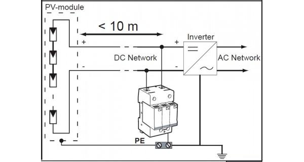 Parafoudre photovoltaïque de type 2 VG