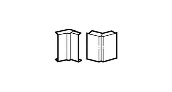 Goulotte angle intérieur/extérieur variable
