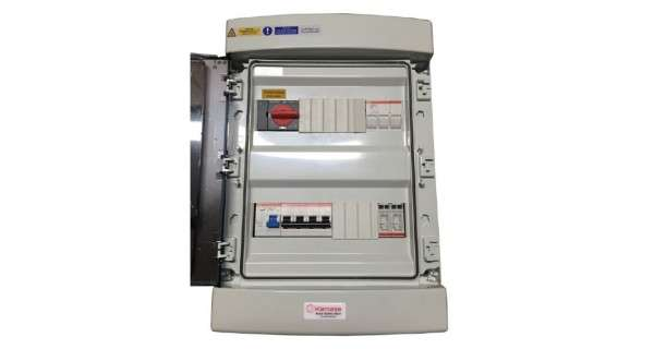 Non-residential three-phase electrical box