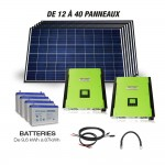 Hybrid grid connected with battery kit 10000W