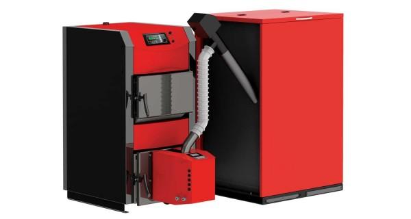 Set Pellet boiler (biomass) BURNiT WBS Active - Pell 20/25 to 110/90kW