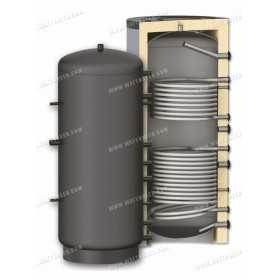 Buffer tank 300 to 2000L PR2 with two coils