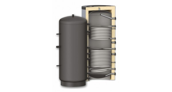Buffer tank BURNiT PR2 with two coils 300 to 3000L